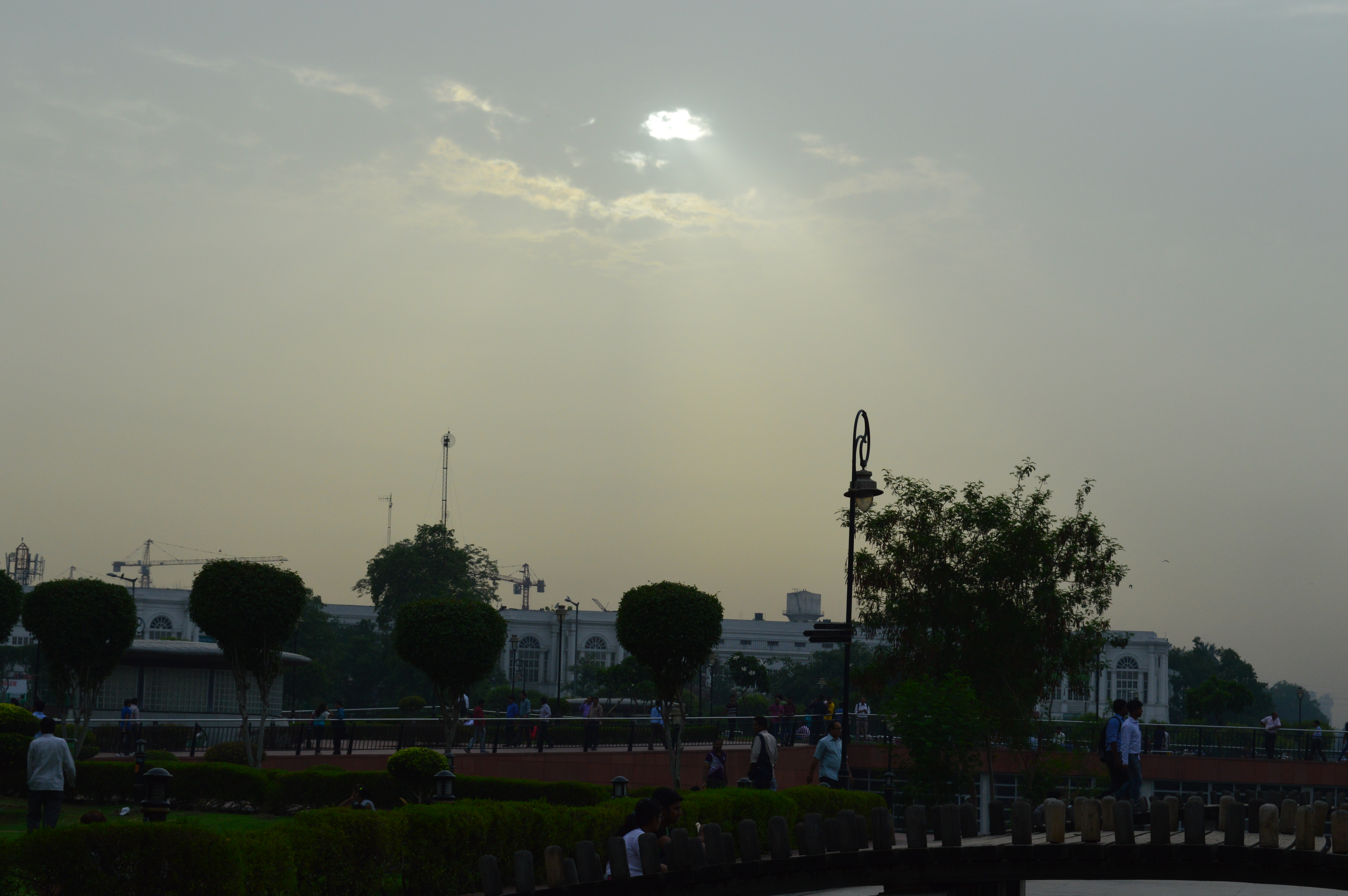 Sunset over Connaught Place