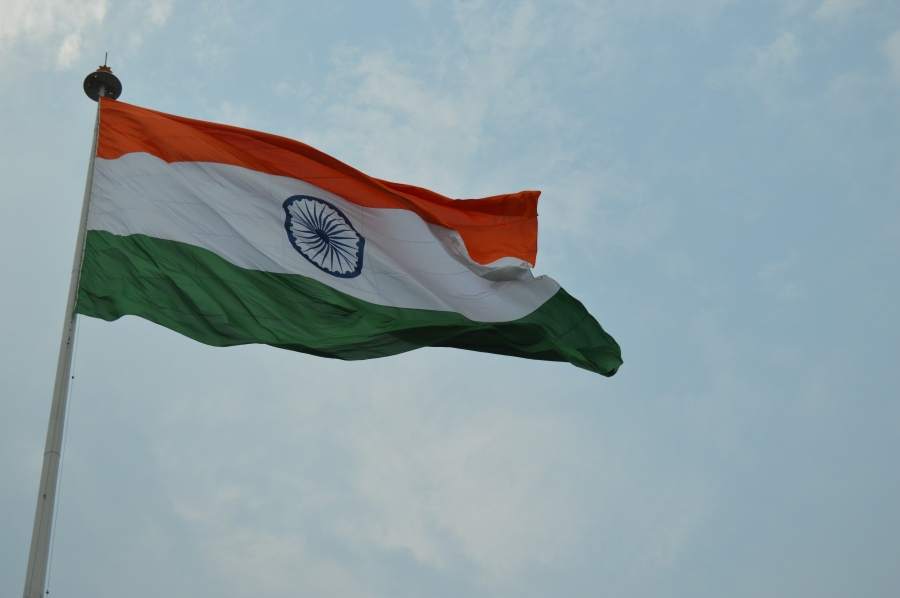 The gigantic Indian flag in Central Park, Connaught Place