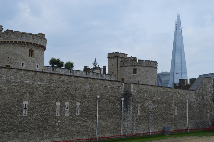 A striking juxtaposition of old and new (The Tower of London and the Shard)
