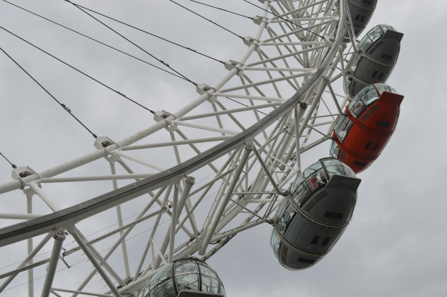 Up close and personal with the London Eye.