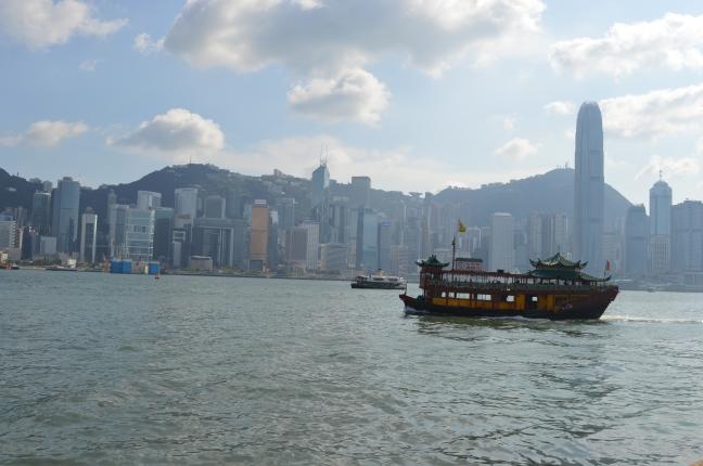 Hong Kong skyline from Tsim Sha Tsui Promenade