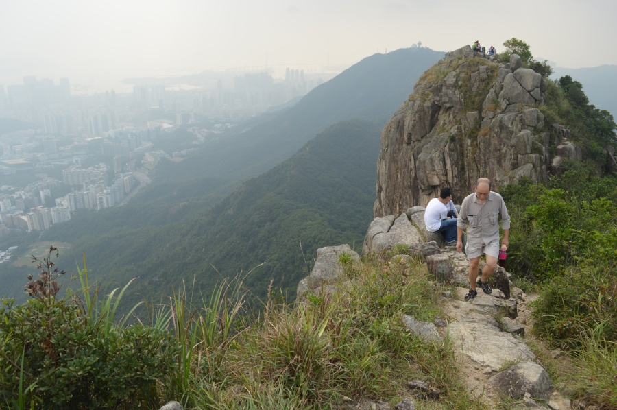 The top of Lion Rock