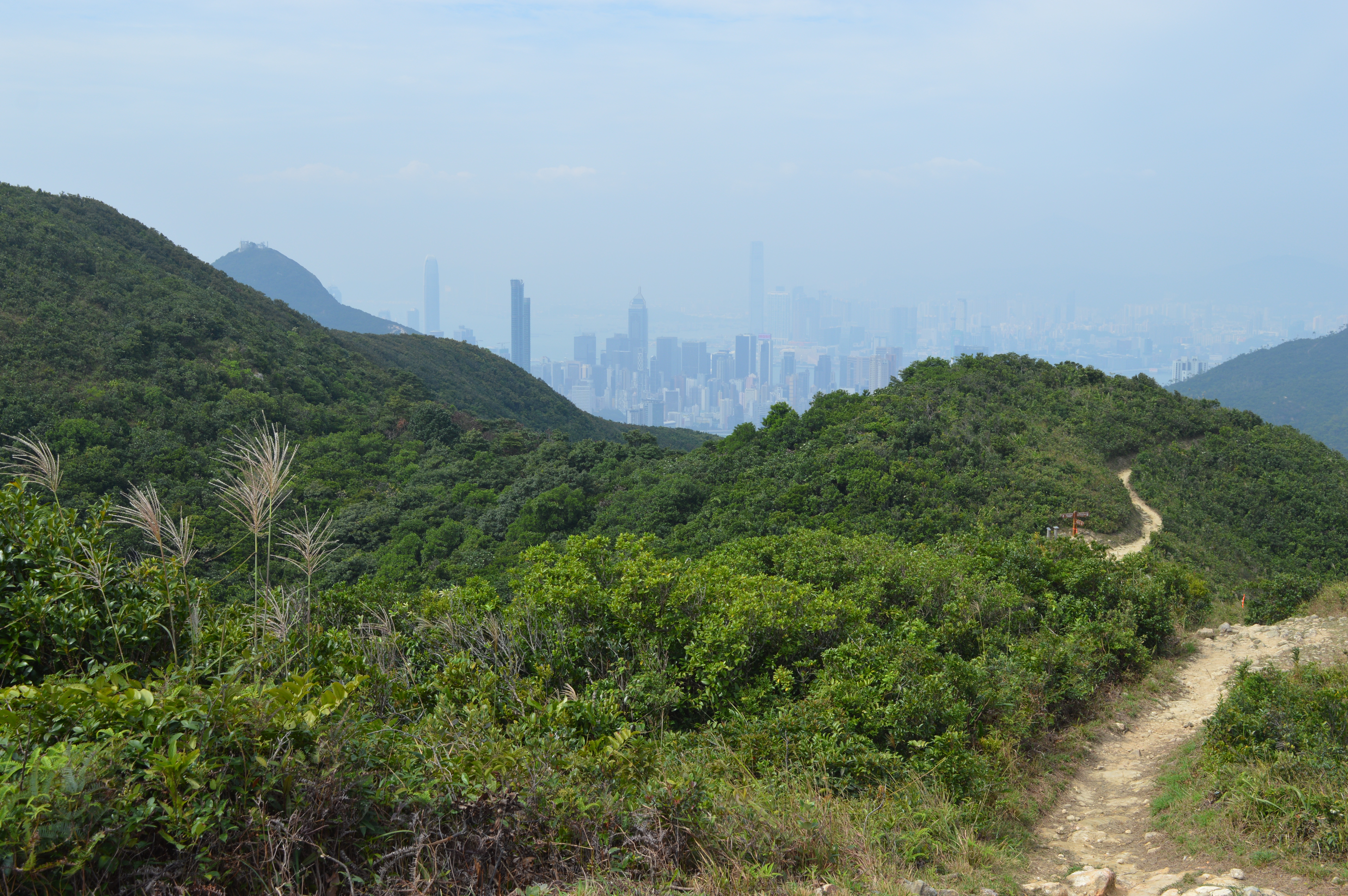 The Wilson Trail with the HK skyline in the distance.