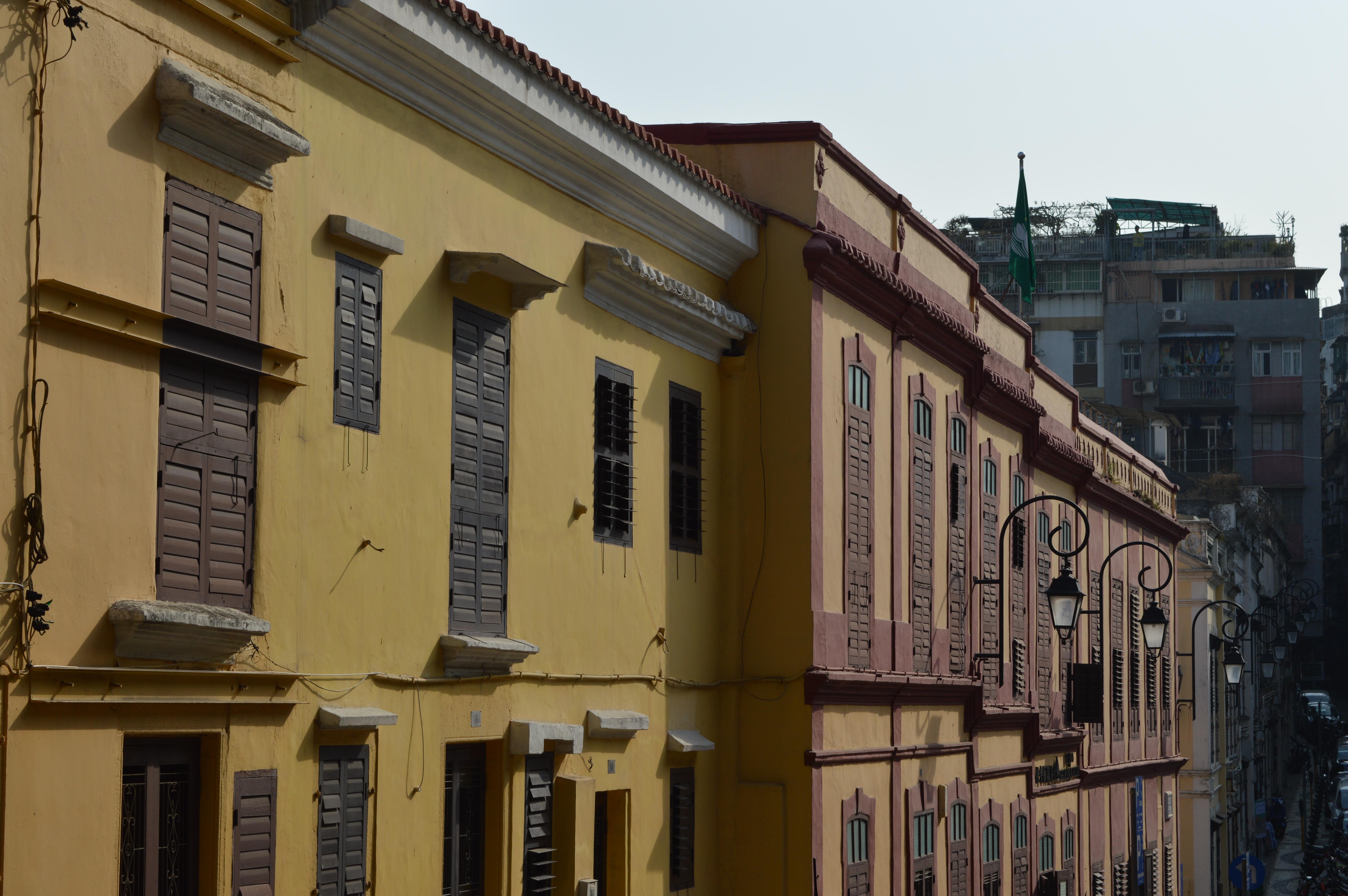 Colonial buildings in Macau