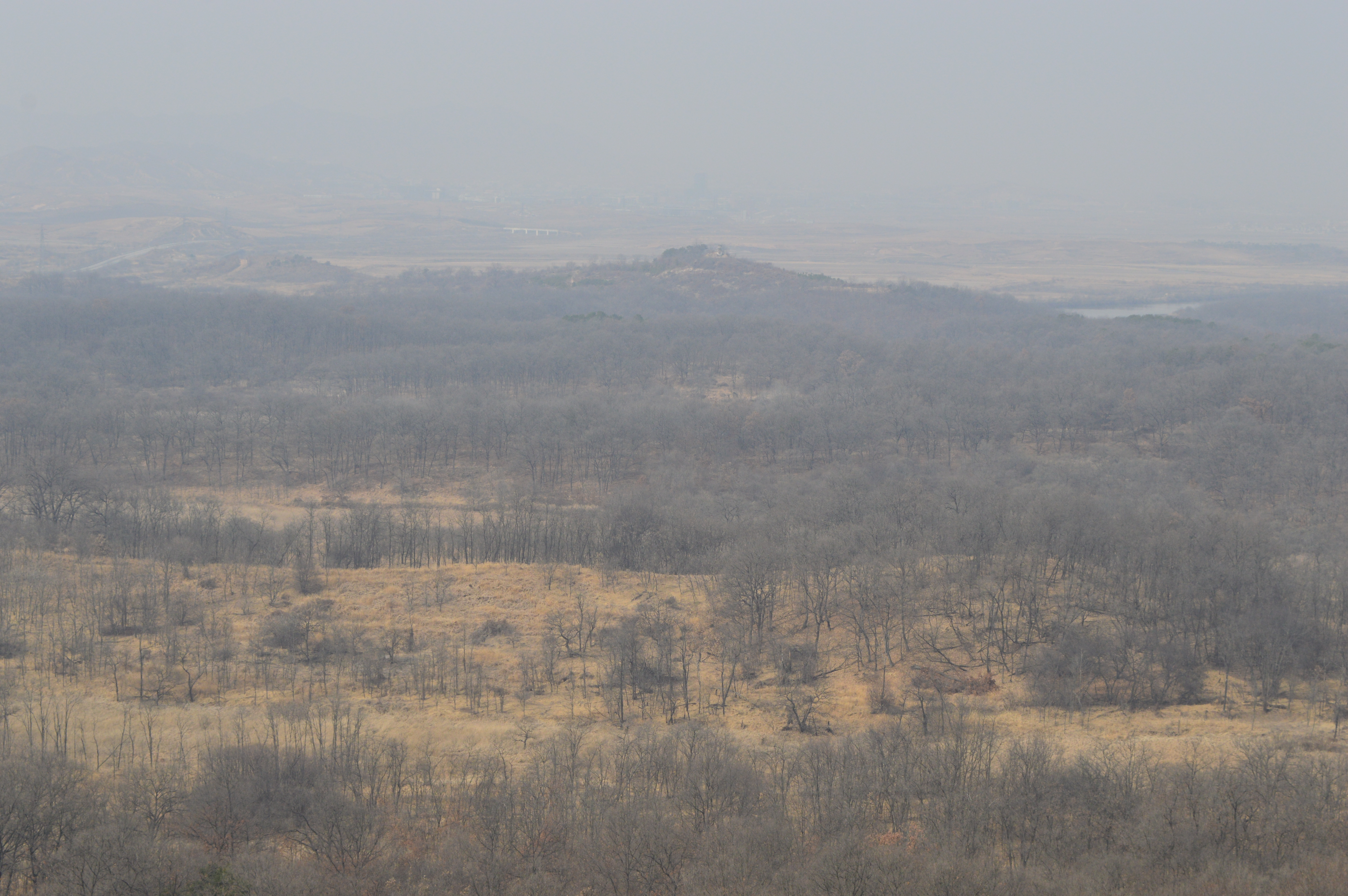 The view of North Korea from the DMZ.