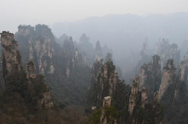 The view from Tianzi Mountain