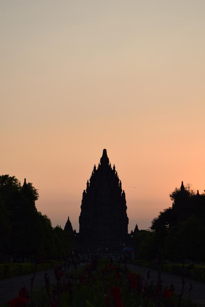 Sunset at Prambanan