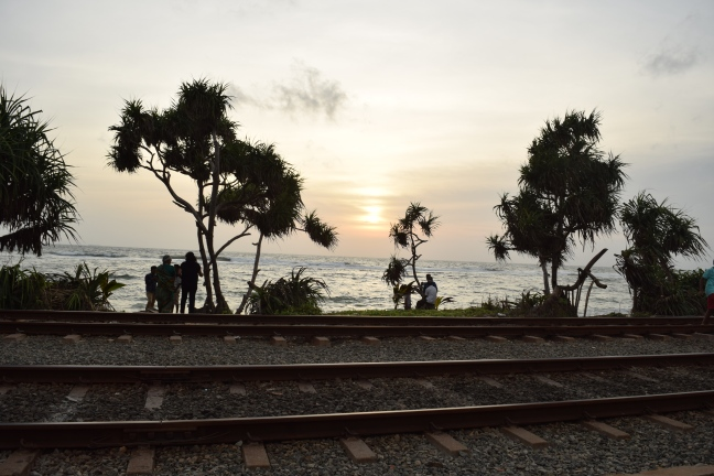 Train track with a seaview...