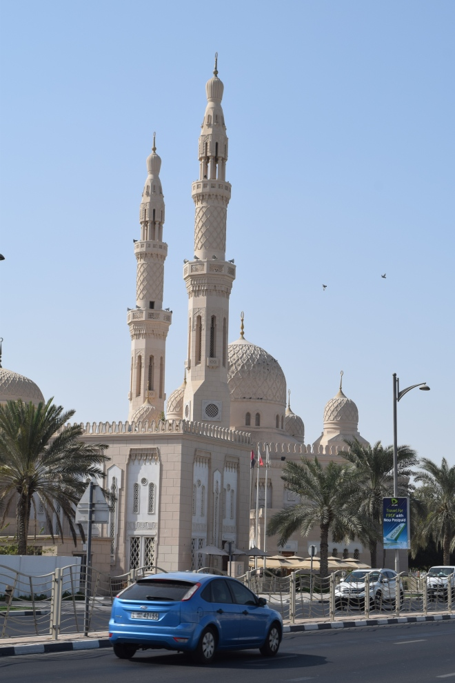 The consolation prize for the beach being shut was this cool mosque.